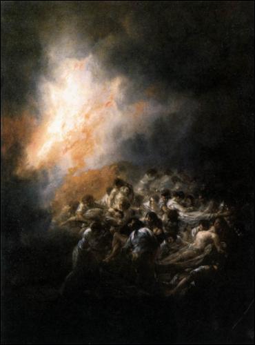 """A quel peintre de l'Ecole romantique espagnole doit-on """"Incendie, feu de nuit"""", tableau éxécuté en 1793 ?"""