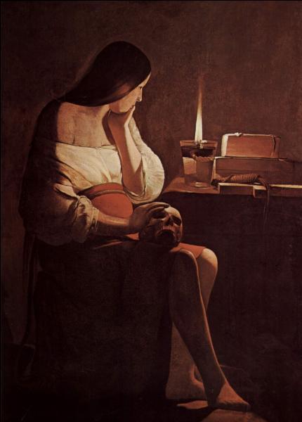 """A quel peintre du 17e siècle, spécialiste de la technique du clair-obscur, doit-on la représentation de Marie-Madeleine dans """"La Madeleine à la veilleuse"""" ?"""