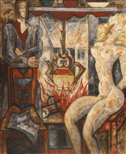 """Cer artiste du 20e siècle aux multiples facettes, mort en 1971, était peintre, illustrateur, graveur et dessinateur de tapisseries, influencé par le cubisme et l'expressionisme. Il a réalisé """"L'Atre"""" en 1966. De qui s'agit-il ?"""