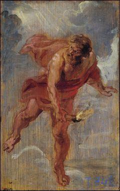 """A quel grand peintre baroque flamand doit-on cette représentation mythologique intitulée """"Prométhée volant le feu"""" ?"""