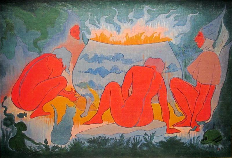 """""""Les sorcières autour du feu"""", tableau réalisé en 1891, est l'oeuvre du peintre nabi appelé par ses amis """"le nabi plus japonard que le nabi japonard"""" et trés versé dans le spiritisme et l'occultisme. Qui est-il ?"""