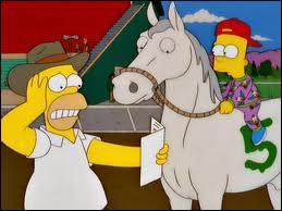 Quel cheval de course a appartenu à la famille Simpson ?