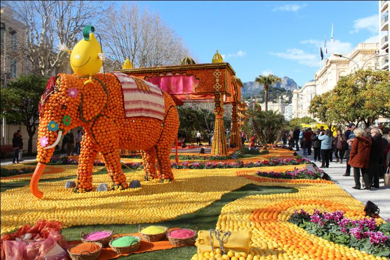Quel fruit fête-t-on traditionnellement à Menton ?