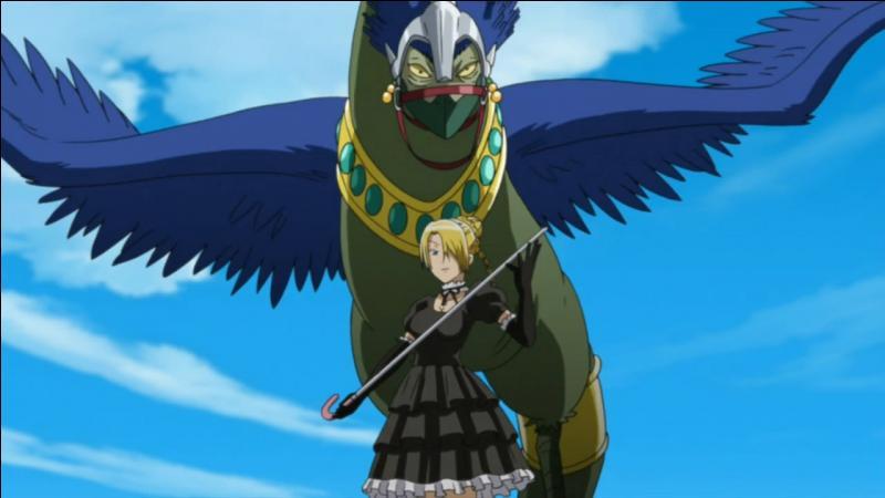 Comment s'appelle l'oiseau et la fille qui sont sur cette image ?