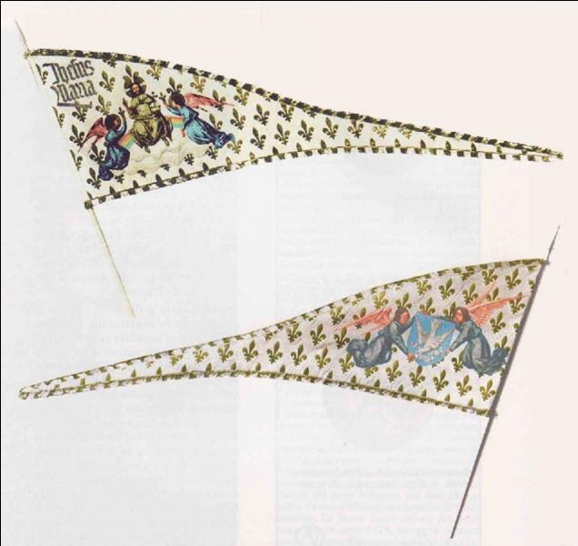Ce n'est pas réellement un drapeau (Photo), mais une oriflamme. Il a été créé pendant une longue période mouvementée de l'histoire de France. Il a été créé par une personne qui a eu une carrière et une vie bien courte. Qui en a demandé la création ?