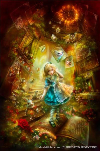 De quelle couleur sont les roses qu'Alice doit repeindre ?