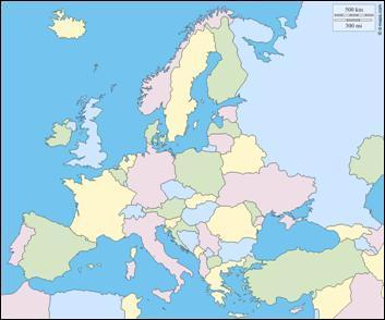 Et cette autre carte d'Europe, à quelle époque correspond-elle ?
