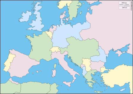 A quelle époque correspond cette carte d'Europe ?