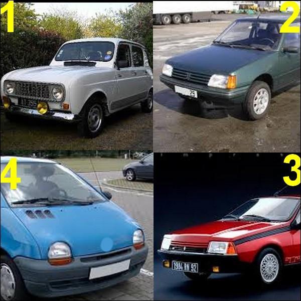 Toutes ces voitures sont de la marque Renault sauf une, laquelle ?