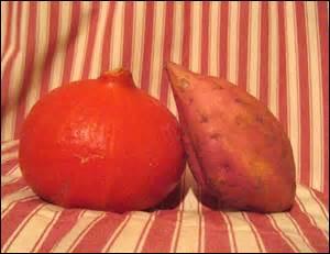 Vous fêtez vos ---- noces, elles sont de velours, vous avez préparé un velouté de potimarron et patates douces.
