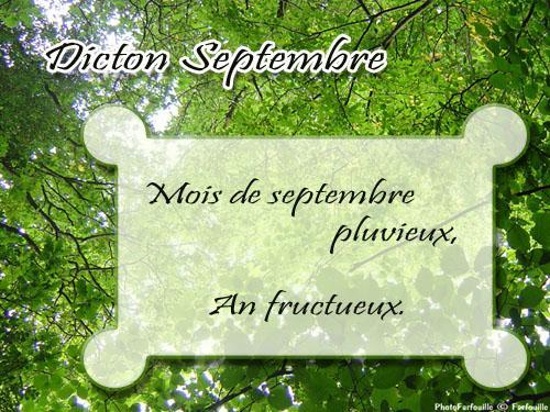 Proverbes de septembre
