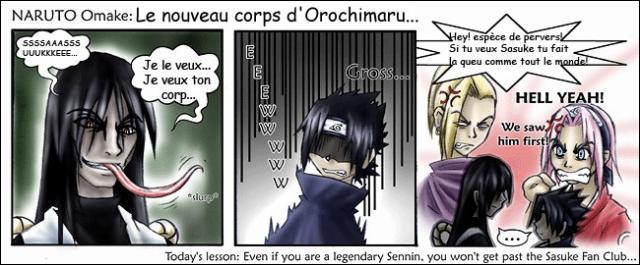 C'est la bataille pour obtenir Sasuke. Repérez dans cette liste, qui veut le dernier des Uchiwa.