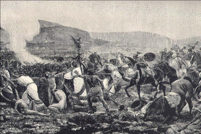 Quelle est cette bataille en 480 av J.C, où l'armée du tyran de Syracuse Gélon détruit en grande partie celle du Carthaginois Hamilcar lors de combats acharnés ?