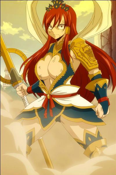 Erza a utilisé l'armure Nakagami, son armure la plus puissante, lors de son affront contre Minerva aux Grands jeux intermagiques.