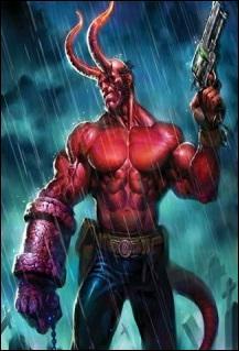 Habituellement, quelle est la particularité physique de Hellboy ?