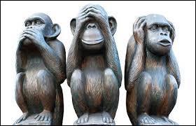 """Que signifie ce symbole d'origine asiatique appelé """"les singes de la sagesse"""" (ou """"les trois petits singes"""") ?"""