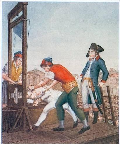 Les 27-28 juillet 1794 a lieu le « Complot du 9 thermidor ». Robespierre et vingt et un de ses complices, dont Saint-Just et Couthon, sont arrêtés et mis dans trois charrettes vers six heures du soir et guillotinés. Robespierre se présente devant le bourreau la mâchoire fracassée, conséquence soit d'une tentative de suicide, soit d'un tir d'un gendarme. Quel est son nom ?