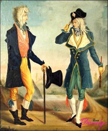 De 1794 jusqu'à 1799 s'enclenche une nouvelle Révolution, dite « Révolution bourgeoise ». Une nouvelle faction, la « jeunesse dorée », s'oppose aux Jacobins et aux sans-culottes, se formant autour de Fréron : les muscadins. Pour quelle raison sont-ils nommés ainsi ?