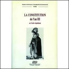 Fin du mois de mai 1795, les sans-culottes sont vaincus : ils sont arrêtés et parfois massacrés. Mais à cette même période, une commission de 11 membres est chargée de préparer une nouvelle Constitution. Qui en est le rapporteur ?