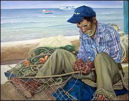Trouvez de quel livre, cette célèbre phrase est tirée :  Il était une fois un vieil homme, tout seul dans son bateau qui pêchait au milieu du Gulf Stream. En quatre-vingt-quatre jours, il n'avait pas pris un poisson  ?