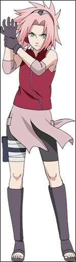 Comment s'appelle cette ninja, étant la disciple de Tsunade pratiquant le ninjutsu médical ? Elle fait aussi partie de l'équipe 7. Elle aime Sasuke Uchiwa (et elle est aimée par Naruto Uzumaki). Elle apparaît dans 'Naruto' et 'Naruto Shippûden'.