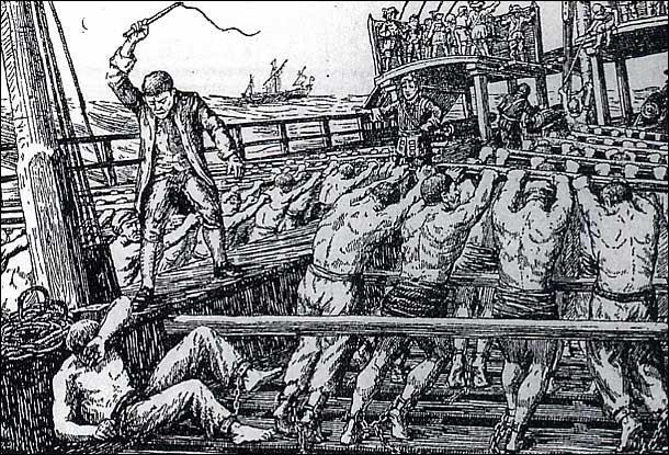 Au XVIIIe siècle, que faisaient les marins occidentaux (catholiques) pour ne plus subir le supplice du fouet lorsqu'ils étaient punis ?