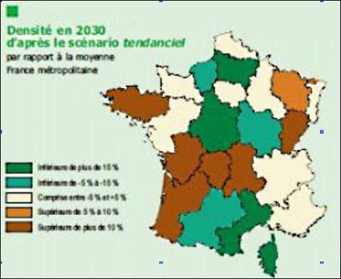 Attention : cette carte est une projection sur 2040. Que prévoit-elle ?