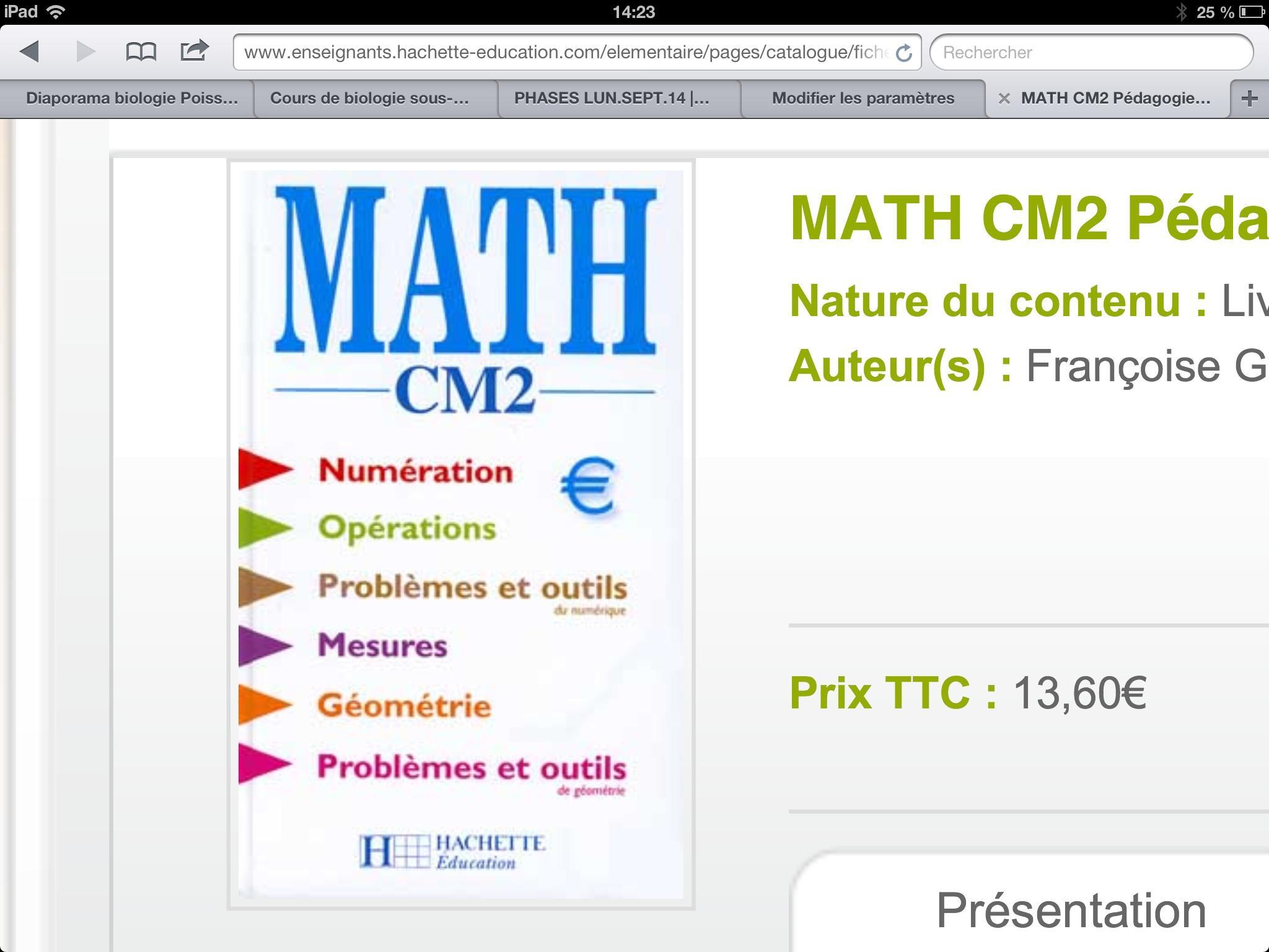 Les maths au CM2