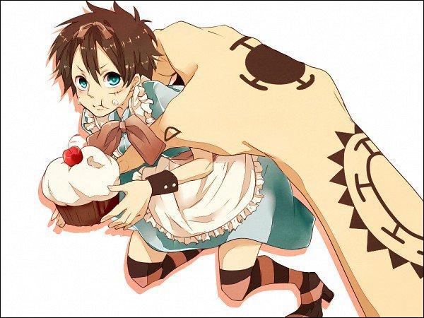 What ? ! Luffy se retrouve en soubrette à manger du gâteau ? ! Il s'est fait attraper par une main géante ! A qui appartient-elle ?