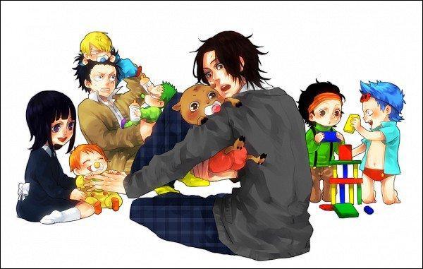 Ace et Luffy ont monté une garderie ! Cependant, un bébé est difficile à gérer, il va même jusqu'à tirer les cheveux de Luffy ! Qui est-il ?