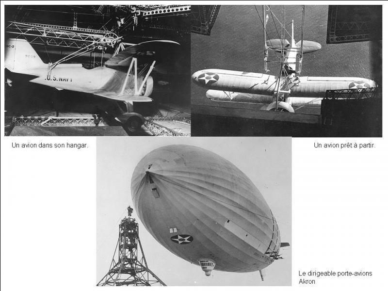 Les Etats-Unis eurent l'idée de réaliser un nouveau système de porte-avions, dans les années 1930. Ce fut un échec. Qu'ont-ils inventé ?