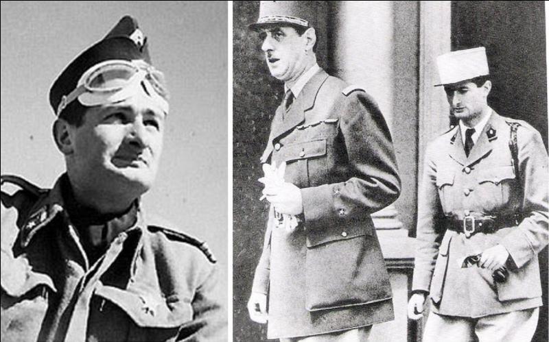 Il a été un le tout premier à rejoindre la France libre puisqu'il accompagne le général de Gaulle à Londres. Il terminera sa carrière comme ambassadeur de France… à Londres. Il partira au combat et participera à la bataille d'El Alamein. Qui est ce personnage ?
