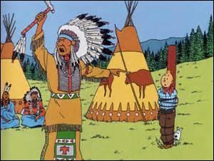 Quel personnage monte tous les Peaux-Rouges contre Tintin ?