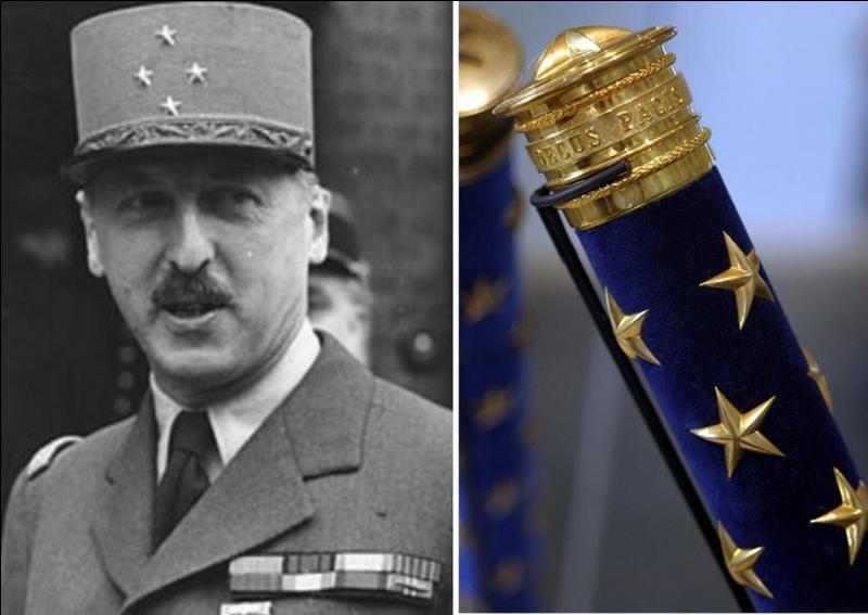 Il sera nommé maréchal à titre posthume par le président Mitterrand. Engagé très tôt dans la France libre, il participa à une bataille d'importance en retardant les troupes allemandes en Libye ! Qui est-il ?