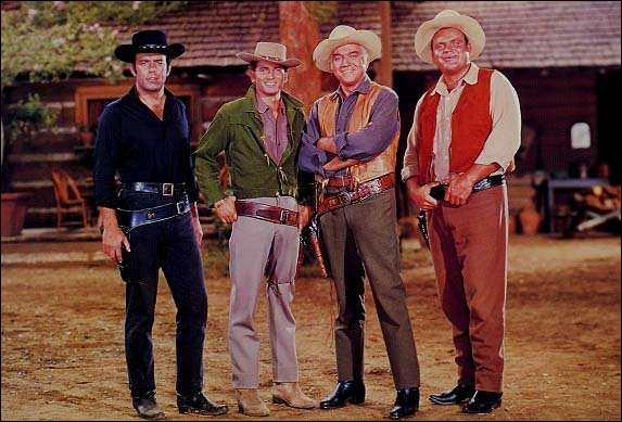 """Entre 1959 et 1973, dans la série """"Bonanza"""" qui ne fait pas partie de la famille Cartwright ?"""