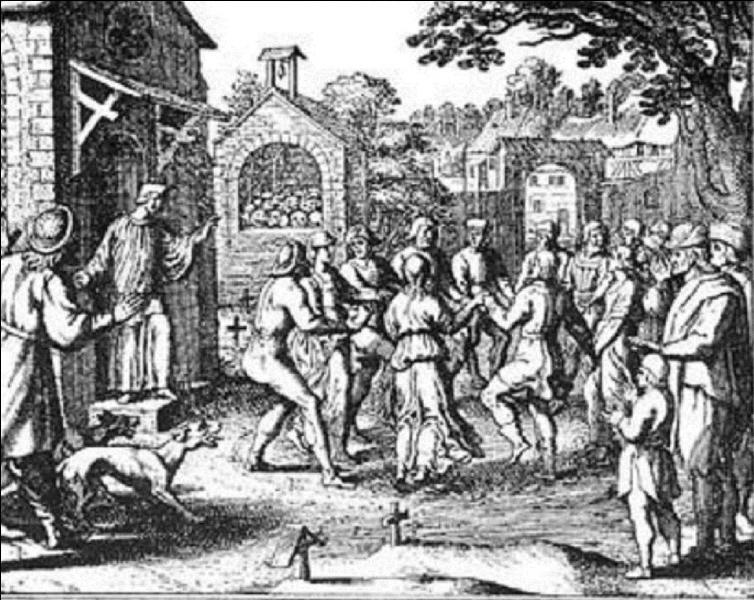 A Strasbourg, en juillet 1518, une épidémie bien « bizarre » a touché 400 personnes environ. Certaines d'entre elles moururent d'épuisement ou de crise cardiaque ! En quoi consitait cette épidémie ?