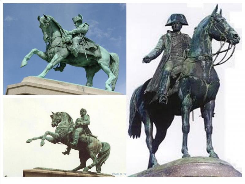A priori, c'est une légende urbaine, il vaudrait mieux dire que c'est une légende « équestre » ! Qu'aurait signifié le fait qu'une statue équestre a ses deux jambes avant en l'air ?