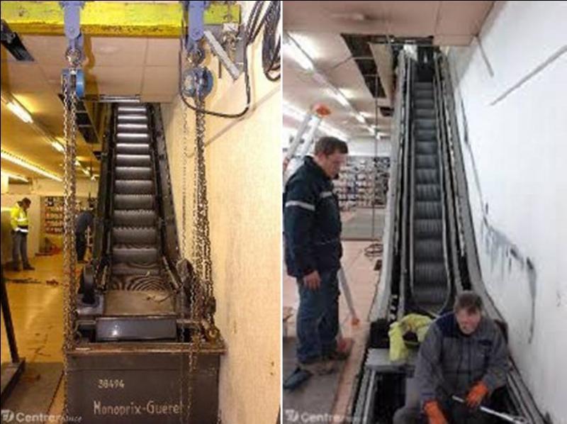 Semble-t-il, en juillet 2014, il n'y aurait qu'un seul escalator dans cette ville et son département français ! Il a été construit en 1969 puis, remplacé en 2011. Où sommes-nous ?