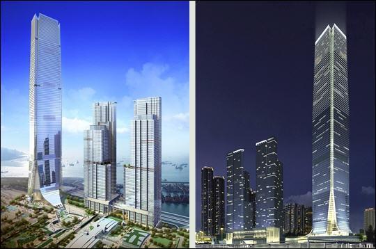 L'International Commerce Center sera le plus haut gratte-ciel de la ville, s'élevant à 484 mètres, lorsque sa construction sera achevée en 2010. Où se situe-t-il ?