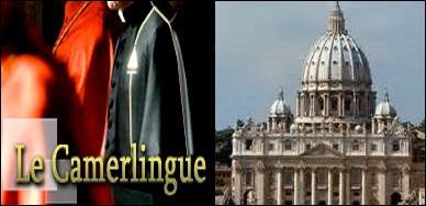 Le camerlingue est responsable du trésor, de la justice, et parfois il assure l'intérim. Oui, mais où ?
