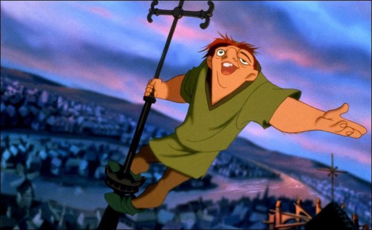 """Q comme... Quasimodo, quel personnage de Disney n'est pas visible dans Paris lorsque Quasimodo chante """"Un jour"""" ?"""