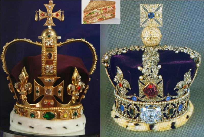 Pendant le couronnement de la reine Elisabeth II en 1953, certains objets démontrant la possession d'un titre de noblesse furent utilisés à tout autre chose. Quel est cet objet et comment fut-il utilisé ?