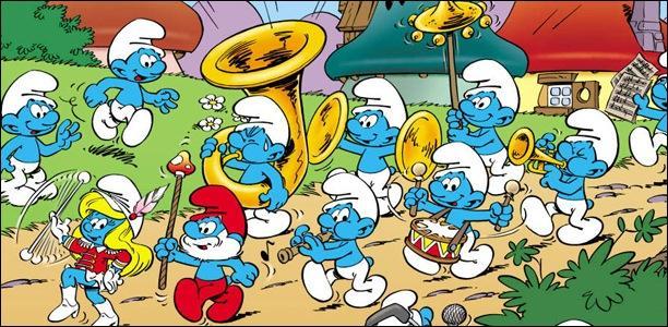 Ce sont des petites créatures imaginaires bleues qui vivent dans un village champignon, il s'agit des :