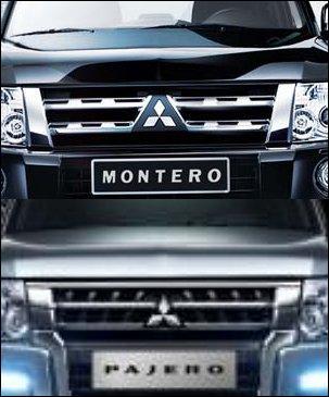 Regardez ces deux modèles : ils sont identiques, mais le « Pajero » n'existe pas là où circule le « Montero », en Espagne. Pourquoi ?