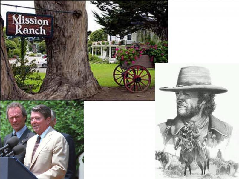 On sait qu'il y a eu des acteurs qui sont devenus homme politique, par exemple, Ronald Reagan. Mais, à votre avis, qui est devenu maire de son petit « bled », Carmel, petite commune de 4 000 habitants ?