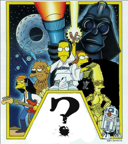 Sur la jaquette de ce DVD, les Simpson s'attaquent à la mythique saga de George Lucas :