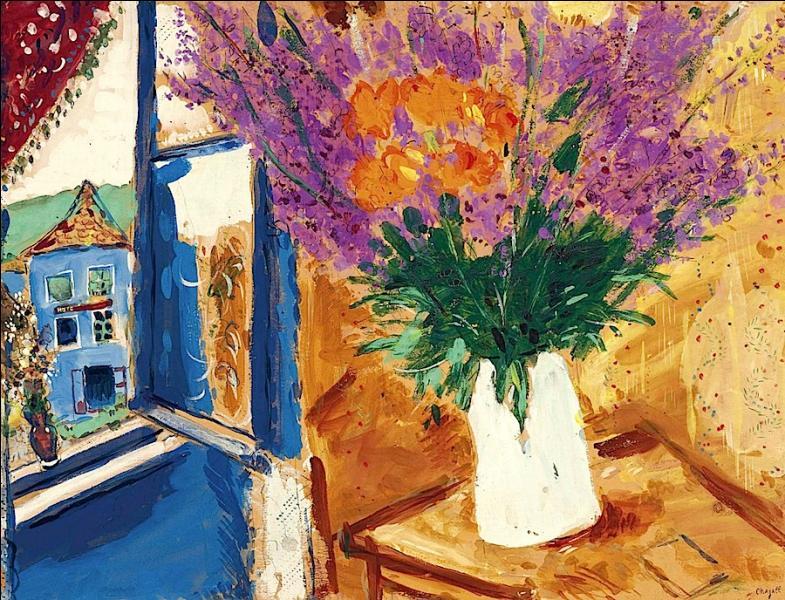 """Quel grand artiste a réalisé la toile """"Fleurs près de la fenêtre"""" ?"""