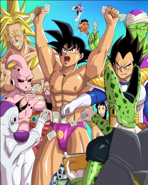 Ils mettent tous des billets dans le slip de Goku. Mais qui arrive carrément avec une valise remplie de dollars ?