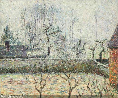 Qui a peint Paysage avec maison et murs d'enclos ?
