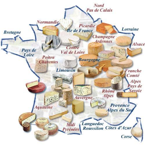 Les fromages sont géographes
